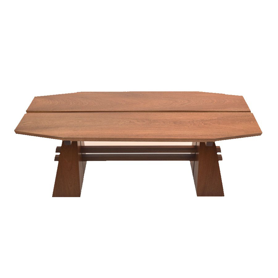 Split Pyramid Mahogany Sapele Coffee Table Image