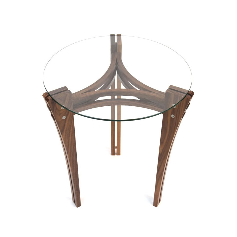 Split Leg Accent Table in Walnut Image
