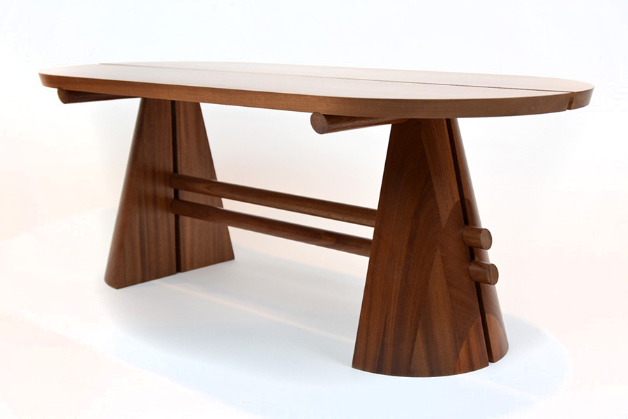 Split Cone Coffee Table in Mahogany Sapele Image