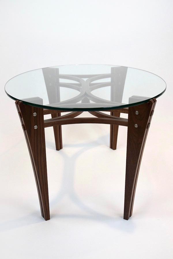 Split Leg Walnut Coffee Table Image